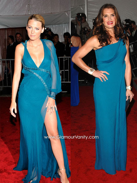 Blake Lively and Brooke Shileds were blue sexy at 2009 MET Costume Institute