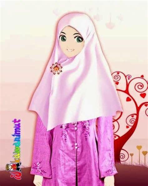keyword kumpulan gambar kartun muslimah gambar kartun