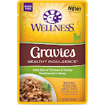 Wellness Pet Products Cat Food - Gravies with Bits of Chicken and Turkey Smothered in Gravy