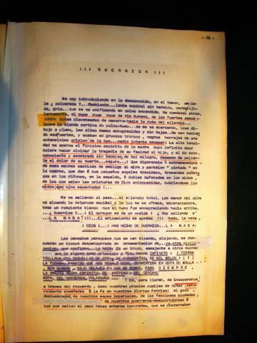 Una tercera página del cuaderno de Calvache.