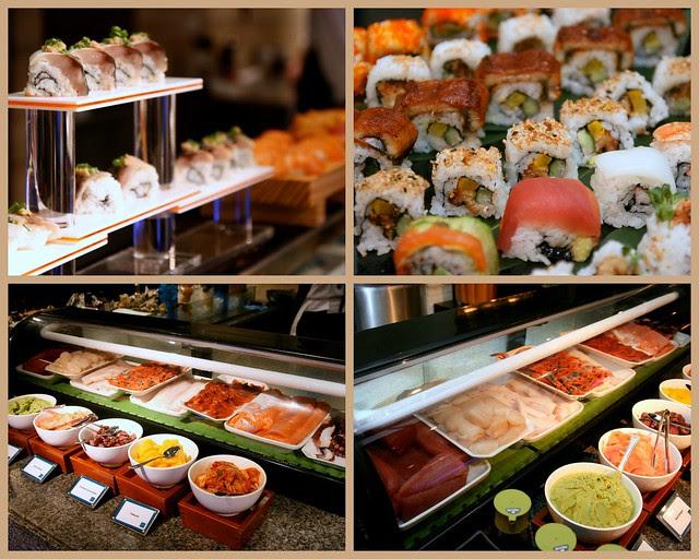 Assorted sashimi and sushi at Triple Three