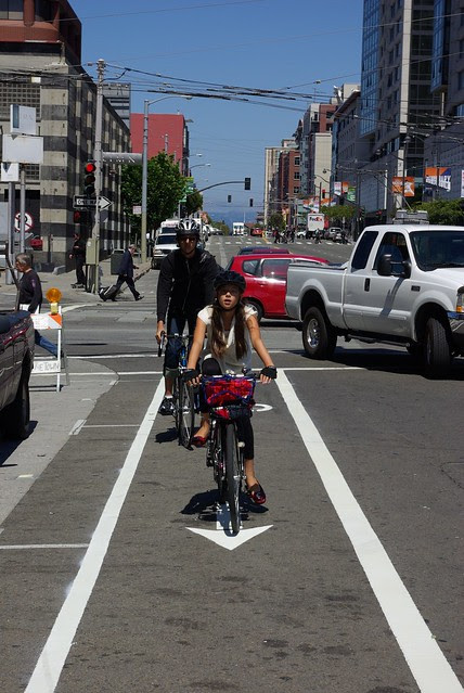 First Kids On Townsend Bicycle Lane!