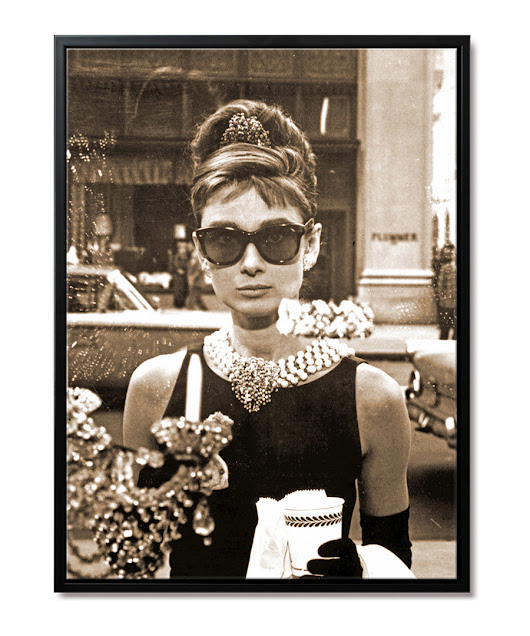 AnyImage Art Audrey Hepburn NY framed print, Designer Homeware Sale, Movie Star Canvas Art , SECRETSALES