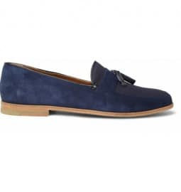 B Store Mario Suede And Canvas Tasselled Loafers