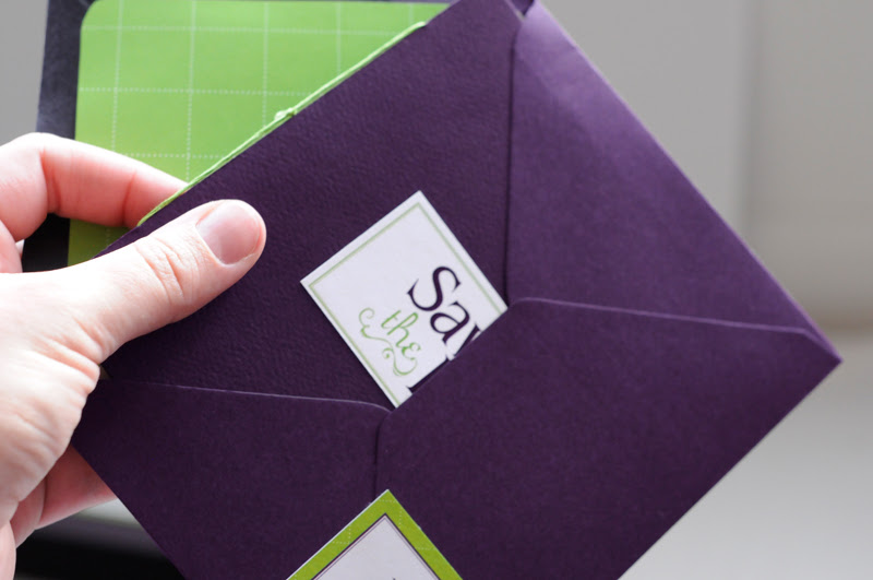 Modern Purple Green Save the Date Booklet7 500x331 Jennifer Chriss Modern