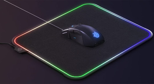 SteelSeries QcK Prism RGB-illuminated mousepad gives gamers choice of surface
