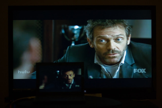 Hooked up the CR-48 to a 1080p TV