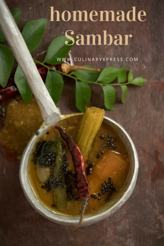Sambar-Lentil based tangy vegetable stew - culinaryxpress