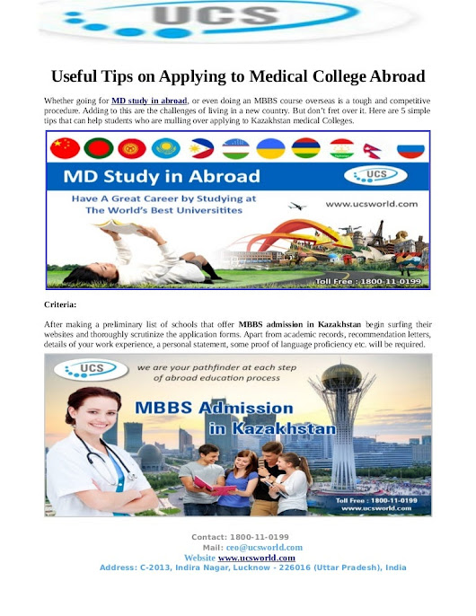 Useful Tips on Applying to Medical College in Abroad