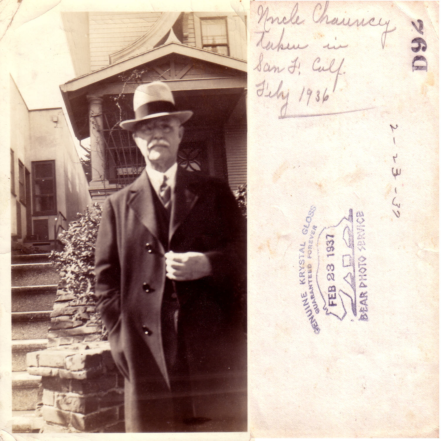 Uncle Chauncy July 1936
