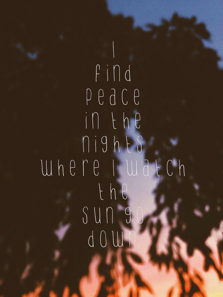 Peace quote photo vsco