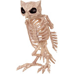 Halloween Skeleton Owl, Decorative Holiday Scene Props