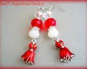 Red Dress Earrings