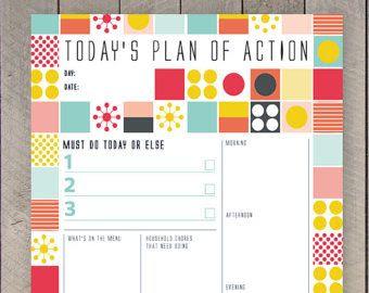 Daily Schedule Cute | Daily Agenda Calendar