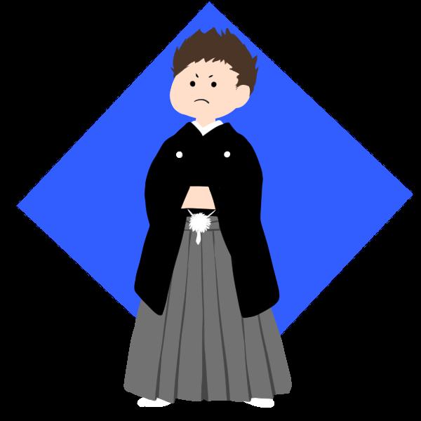 男の子袴のイラスト かわいいフリー素材が無料のイラストレイン