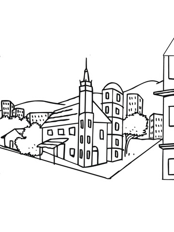 Dibujo De Paisaje Urbano Sueco Para Colorear Dibujos Para Colorear