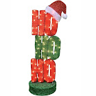 Northlight 44 Oscillating Red and Green Lighted HO HO HO Sign Christmas Outdoor Decoration