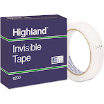 3M Highland 6200 - Office tape - 0.75 in x 216 ft - 3 in core - clear