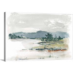 Overcast Lake Study II | Canvas Wall Art | 30x20 | Great Big Canvas