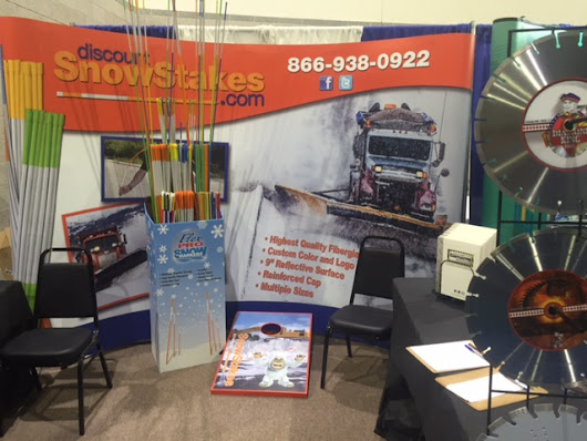Snow Stakes Canada At SIMA Montreal Quebec Canada And Snow Plow