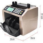 Aibecy LCD Display Automatic Multi-Currency Cash Banknote Money Bill Counter Counting Machine with UV MG Counterfeit Detector External Display Panel