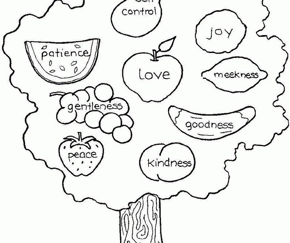 Coloring page fruit the spirit fruit of the spirit printables