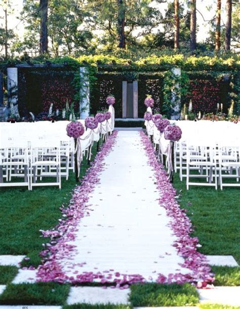 50 Best Garden Wedding Aisle Decorations   Pink Lover