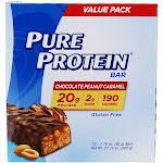 Pure Protein Protein Bar Value Pack Chocolate Peanut Caramel 12 Bars