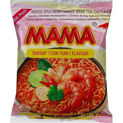 Mama Tom Yum Shrimp Instant Noodle - 3.17 oz bag