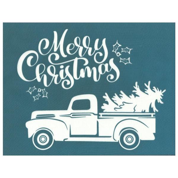 DIY Silk Screen Print Stencil, Christmas Tree Vintage ...