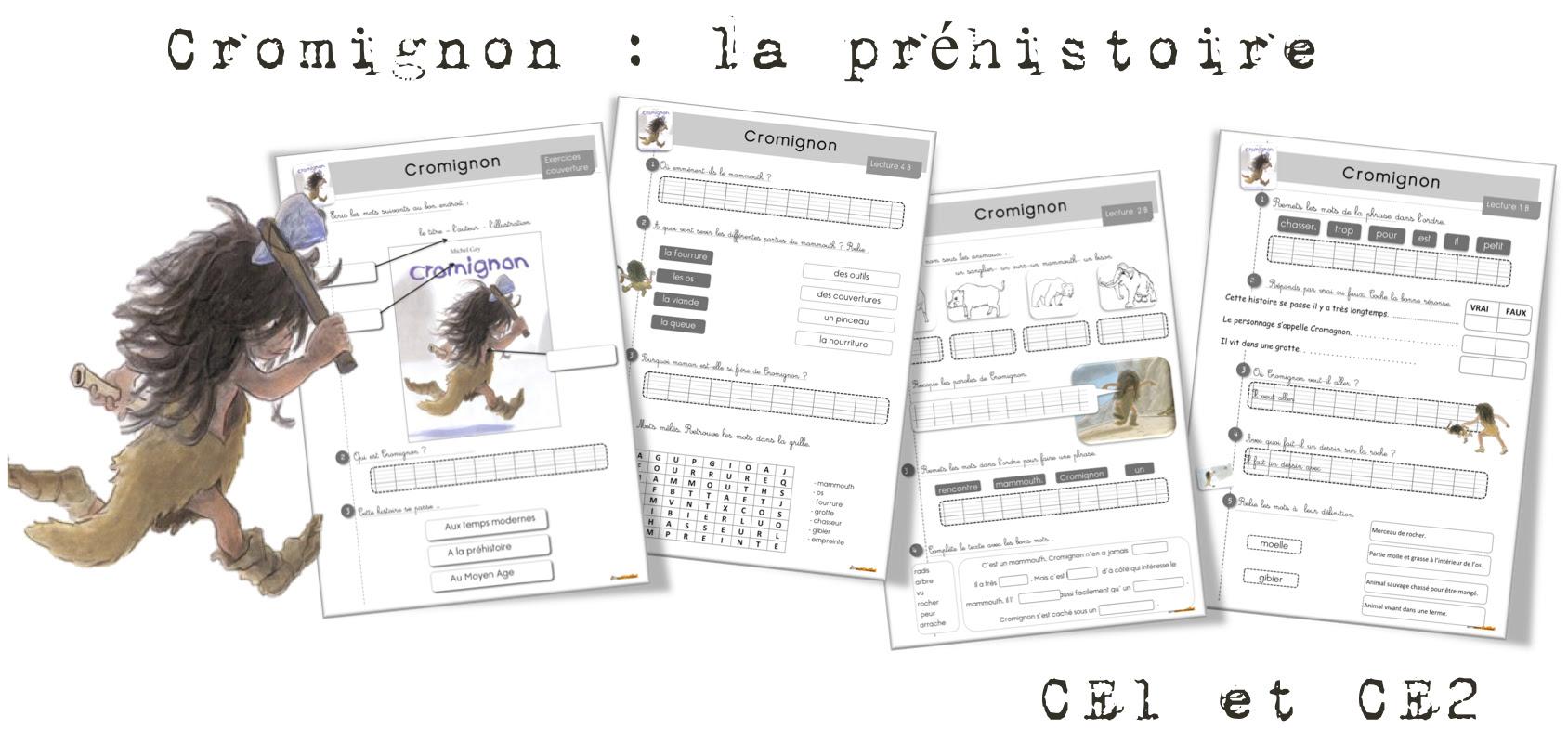 Cromignon lecture suivie CE1 et CE2