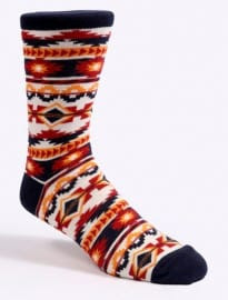 Red & Navy Aztec Socks