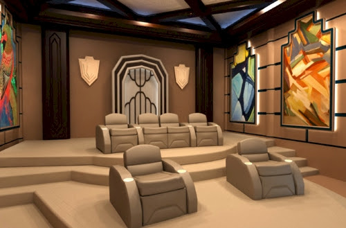 Exotic Excess - Luxury Custom Home Theater Seating