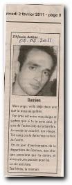 notice in memoriam Damien