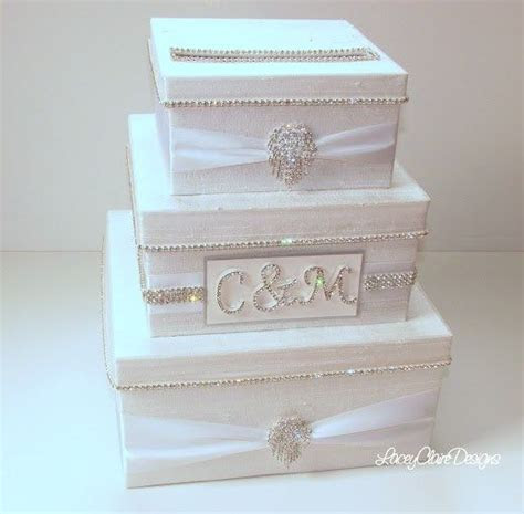 Wedding Card Box, Bling Card Box, Rhinestone Money Holder