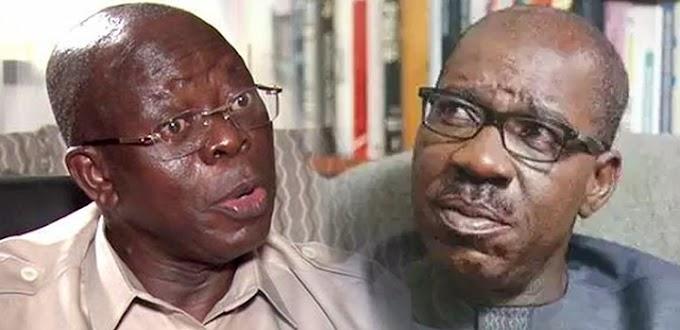 Oshiomole: Obaseki Is A Snail In A Tiger Race