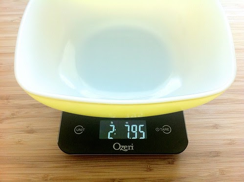 Measuring Bowl on Kitchen Scale