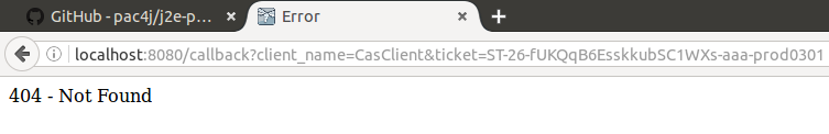 cas redirects using own cas server fails when trying out j2e