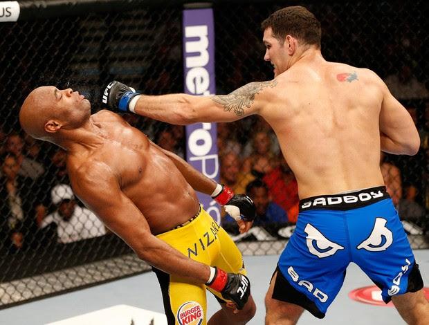 Anderson Silva x Chris Weidman UFC 162 (Foto: Montagem sobre foto da Getty Images)