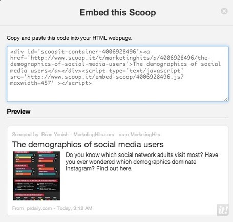 Embed Your Scoop.it Stories Anywhere