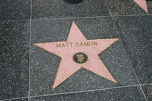 English: Matt Damon's Hollywood Star