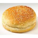 Flowers Foods European Bakers Sliced Sesame White Hamburger Bun, 4.5 inch- 12/pack- 6 packs/case