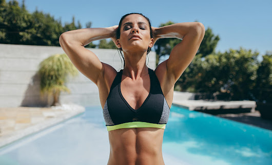 Trend: Sports Bras That Double As Swim Tops