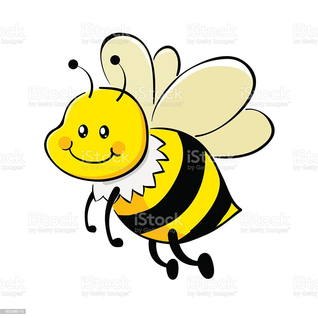 Bee Cartoon stock vector art 482556113 | iStock
