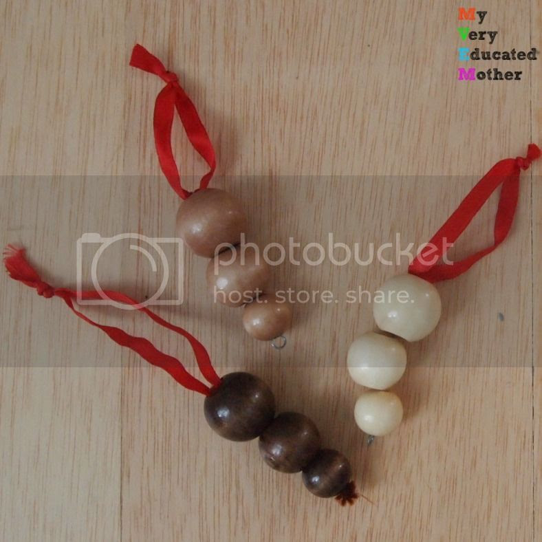 #woodbeads #Christmasornaments #howto #crafts