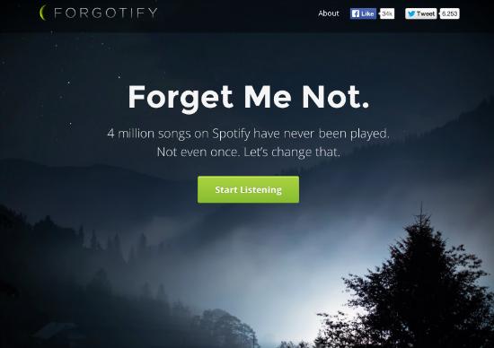 Ascoltare canzoni dimenticate o sconosciute con Forgotify gratis