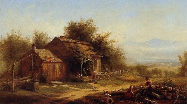 Daily chores on the farm by Jerome B. Thompson on artnet