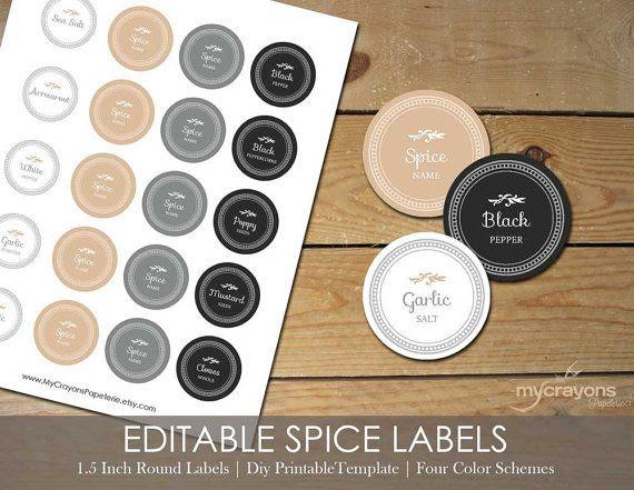 1000+ ideas about Spice Jar Labels on Pinterest | Spice labels ...