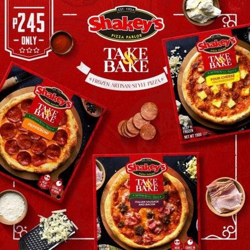 Introducing the Shakey's Take & Bake Frozen Artisan-Style Pizzas