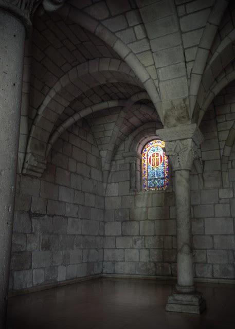 St. Bernard de Clairvaux Prayer Room Window Left
